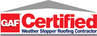 roof contractor gaf certified
